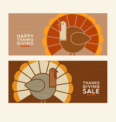 happy thanksgiving abstract turkeys vector image