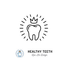 healthy teeth icon dental care logo concept vector image