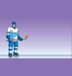 hockey player background vector image