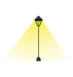 isolated retro lamp post icon vector image