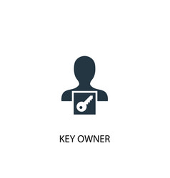 Key owner icon simple element key vector