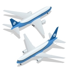 Large passenger Airplane 3d isometric vector image