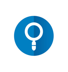 magnifying glass icon combined with blue circle vector image