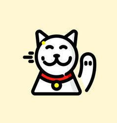 maneki-neko vector image
