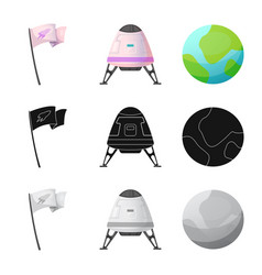 mars and space symbol set vector image