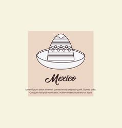 mexico design concept vector image
