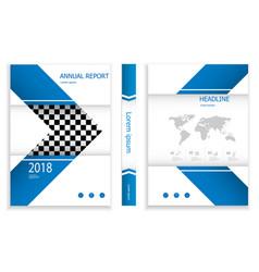 modern deep blue business brochure design template vector image