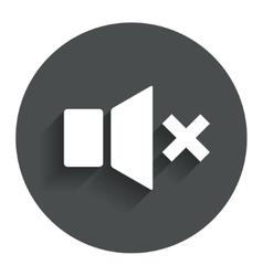 Mute speaker sign icon Sound symbol vector