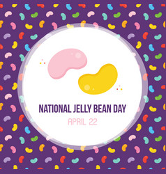 national jelly bean day card vector image