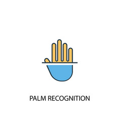 palm recognition concept 2 colored line icon vector image