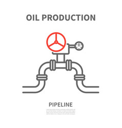 pipeline in linear style vector image