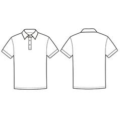 Polo t-shirt vector