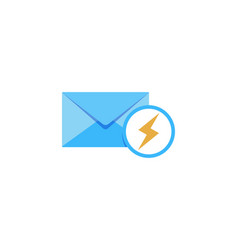 power mail logo icon design vector image