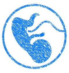 Prenatal grunge icon vector