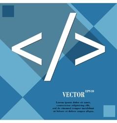 Programming code icon symbol Flat modern web vector