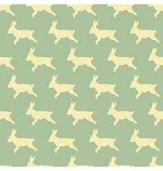 rabbit pattern vector image
