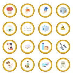Refugees icon circle vector