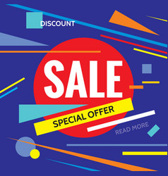 sale discount special offer - promotion vector image