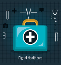 Services medical healthcare isolated vector