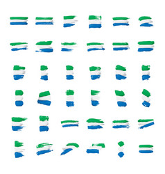 sierra leone flag on a white vector image
