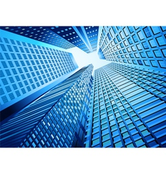 Skyscraper office building vector image