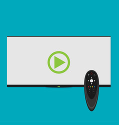 smart tv concept - in flat style vector image