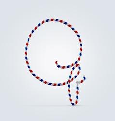 Striped font Q vector