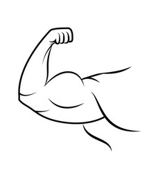 strong arm icon line art vector image