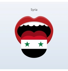 Syria language Abstract human tongue vector
