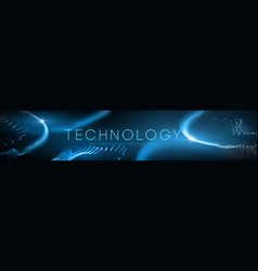 technology background abstract blue geometric vector image