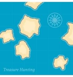 Treasure map background vector