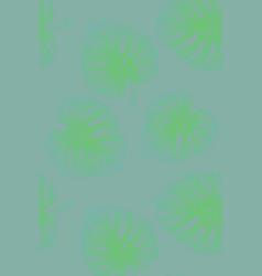 Tropical leaves monstera pattern vector