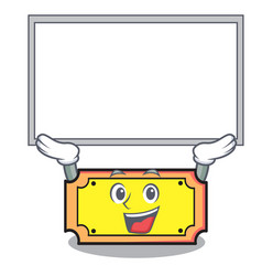 up board ticket character cartoon style vector image