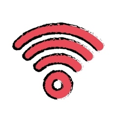 Wifi internet zone vector image