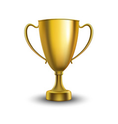 winner cup isolated vector image