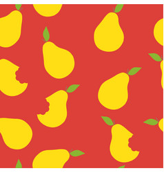 Yellow pear pattern seamless color vector