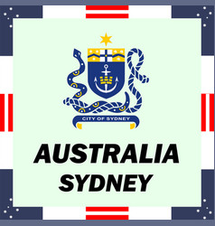 Official government elements of australia - sydney vector