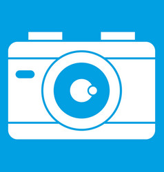 photo camera icon white vector image