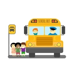 School bus isolated vector image