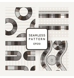 Set of seamless patterns of striped vector image