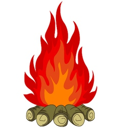 bonfire isolated for you design vector image vector image