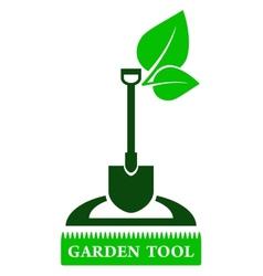 garden tool sign vector image vector image