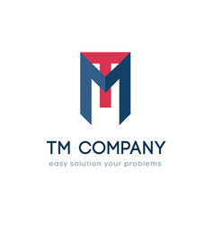 logo for tm company name vector image