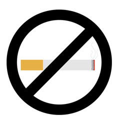 no smoke sign vector image