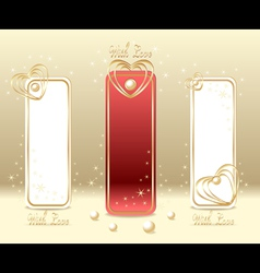 Set Love Labels vector image vector image