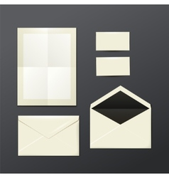 template of white Envelopes paper and postage vector image