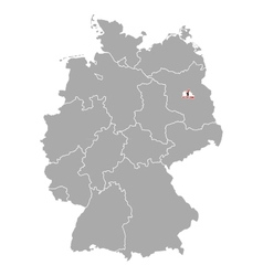 Map of germany with flag of berlin vector