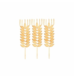 Watercolor ear of wheat on the white background vector image vector image