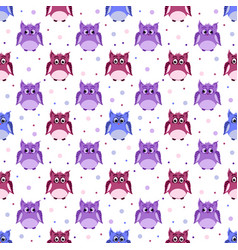 angry strict surprised colorful owls vector image vector image