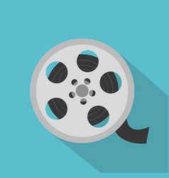 cinema reel isolated icon vector image
